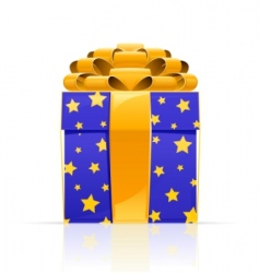 gift box with golden bow vector image vector image