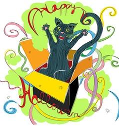 happy halloween cat vector image