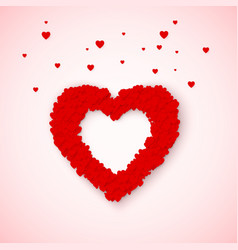 lovely heart frame from small red and pink hearts vector image