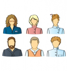avatars vector image vector image