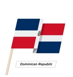 Dominican republic ribbon waving flag isolated on vector