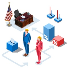 Election Infographic Us Presidents Isometric vector image