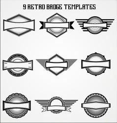 Retro Badge Templates vector image vector image