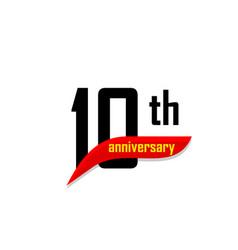 10th anniversary abstract logo ten happy vector image