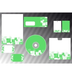 abstract business template - green corporate style vector image