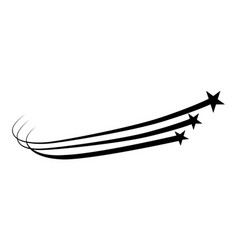 abstract falling star b vector image