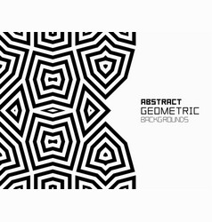 Abstract geometric background with lines vector