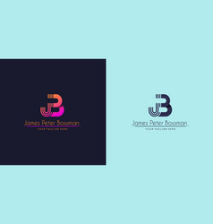 Abstract initial letter j and b linked logo vector