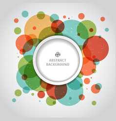abstract modern colorful circles overlapping vector image