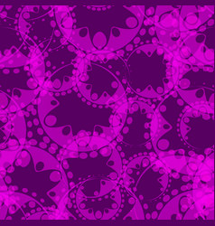 abstract purple seamless pattern of gears and vector image