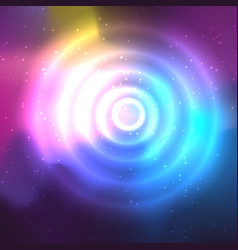 Abstract space background and a circle with flares vector