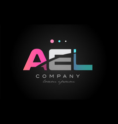 ael a e l three letter logo icon design vector image