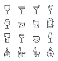 Alcohol Beverage Icon Bold Stroke vector image