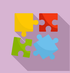 Alzheimer puzzle test icon flat style vector