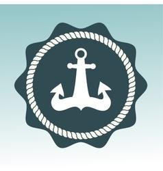 Anchor nautical symbol badge vector image