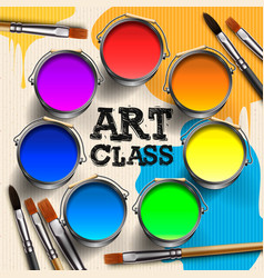 art class workshop template design kids craft vector image
