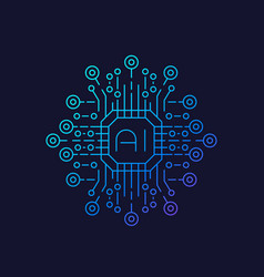 artificial intelligence ai technology vector image