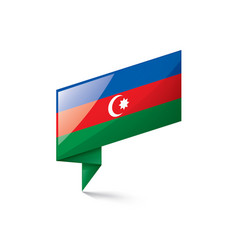 azerbaijan flag on a white vector image
