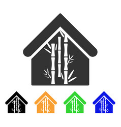 bamboo house icon vector image