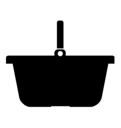 basket for shopping black color icon vector image