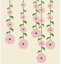 beautiful flowers decoration background vector image