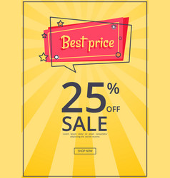 Best price proposition zbanner with 25 discount vector