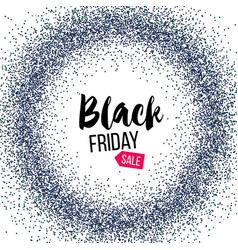 Black friday banner with glitter vector
