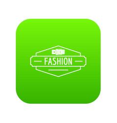 Buckle icon green vector