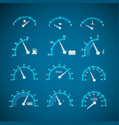 car interface elements set vector image