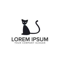 cat logo design concept template fully editable vector image