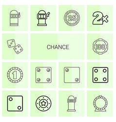 chance icons vector image