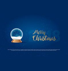 Christmas snow globe on transparent background vector