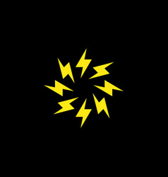 circle lightning bolt minimal simple symbol vector image
