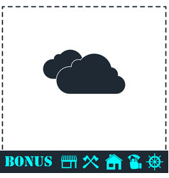 clouds icon flat vector image