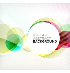 Colorful circles modern abstract composition vector