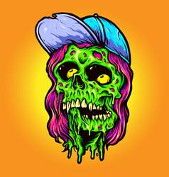 cool man monster zombie vector image