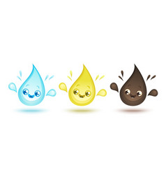 cute drops vector image