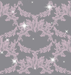 Damask pattern sparkling vector