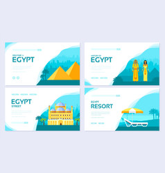 egypt country ornament travel tour concept vector image