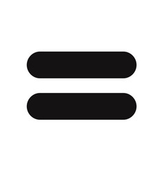 equal icon vector image