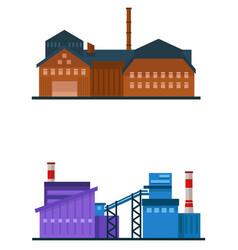 Factory building industrial plant vector