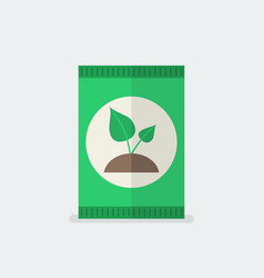 fertilizer in flat style vector image