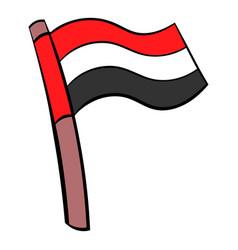 Flag of egypt icon cartoon vector