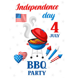 fourth july independence day bbq party banner vector image
