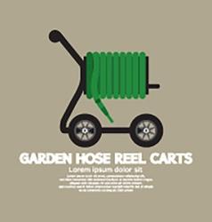 Garden Hose Reel Carts vector image