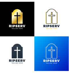 grave flat icon single high quality outline vector image