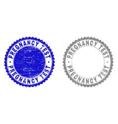 Grunge pregnancy test textured watermarks vector