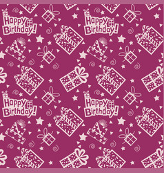 Happy birthday hand drawn pattern background with vector