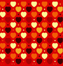 hearts and dots vector image
