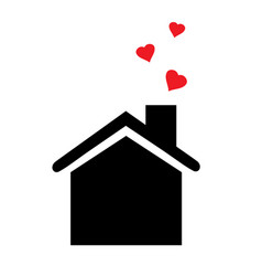 House icon with hearts vector